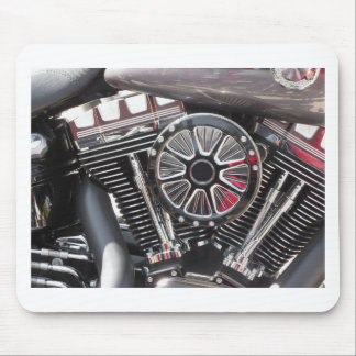 Motorcycle chromed engine detail background mouse pad