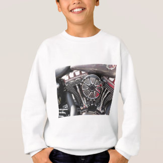 Motorcycle chromed engine detail background sweatshirt