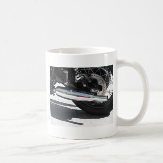 Motorcycle chromed exhaust pipe . Side view Coffee Mug
