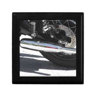Motorcycle chromed exhaust pipe . Side view Gift Box