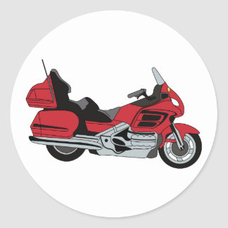 Motorcycle Classic Round Sticker