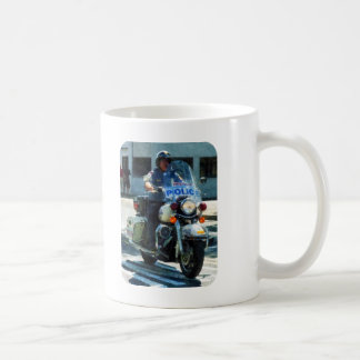 Motorcycle Cop Coffee Mug