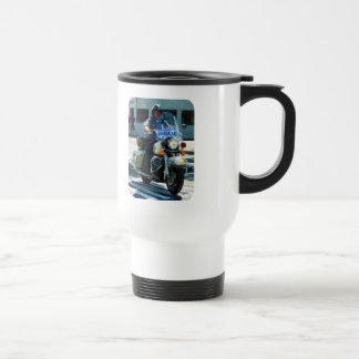 Motorcycle Cop Travel Mug