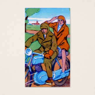 Motorcycle Couple Business Card