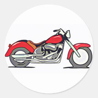 Motorcycle Design Classic Round Sticker