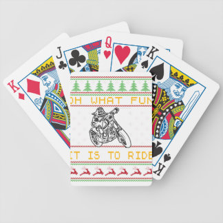motorcycle design cut bicycle playing cards