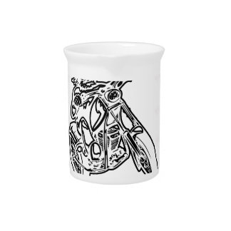 motorcycle design cut drink pitcher