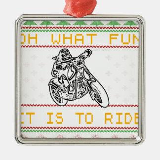motorcycle design cut metal ornament