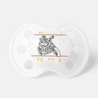motorcycle design cut pacifier