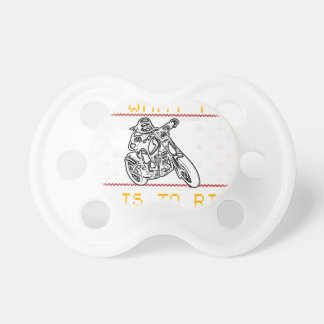 motorcycle design cut pacifier