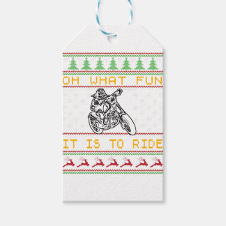 motorcycle design cut pack of gift tags