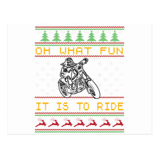 motorcycle design cut postcard