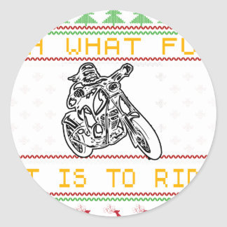 motorcycle design cut round sticker