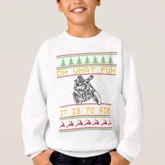 motorcycle design cut sweatshirt