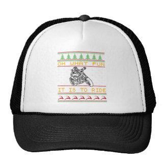 motorcycle design cut trucker hat
