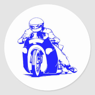 Motorcycle Drag Racing Classic Round Sticker