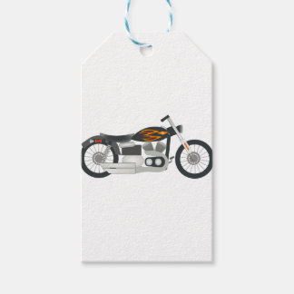Motorcycle Drawing Gift Tags