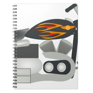 Motorcycle Drawing Notebook