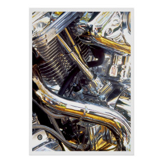 Motorcycle Engine, poster