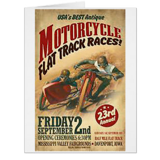 Motorcycle flat track races2 card
