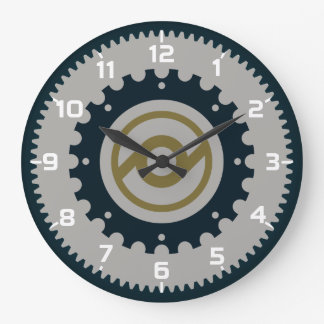 Motorcycle Gear Large Clock