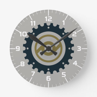 Motorcycle Gear Round Clock