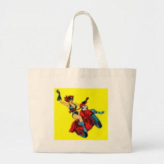 Motorcycle Girl Large Tote Bag