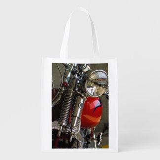 Motorcycle Headlight Closeup Reusable Grocery Bag