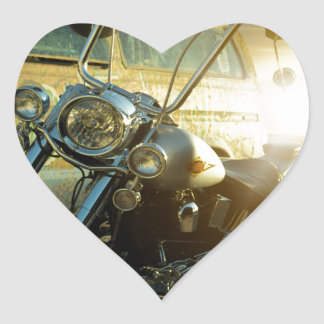 motorcycle heart sticker