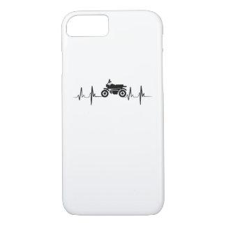 Motorcycle Heartbeat Biker Man Dad Gift iPhone 8/7 Case