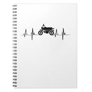 Motorcycle Heartbeat Biker Man Dad Gift Notebook
