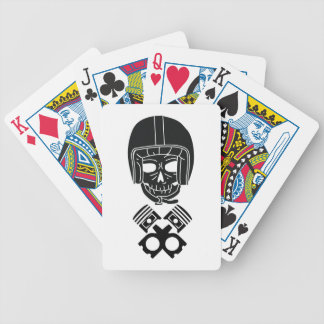 Motorcycle Helmet Skull Bicycle Playing Cards