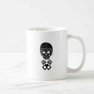 Motorcycle Helmet Skull Coffee Mug