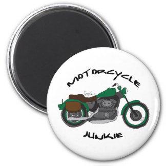motorcycle junkie magnet