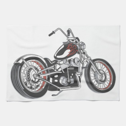 Motorcycle. Kitchen Towel
