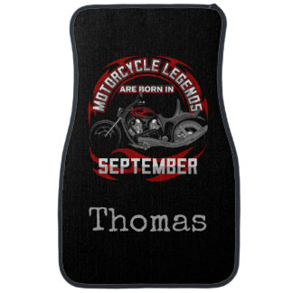 Motorcycle Legends Are Born In September Add Name Car Mat