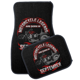 Motorcycle Legends Are Born In September Car Floor Carpet