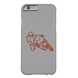 Motorcycle Logo Leaning Into Curve Red Streaks Barely There iPhone 6 Case
