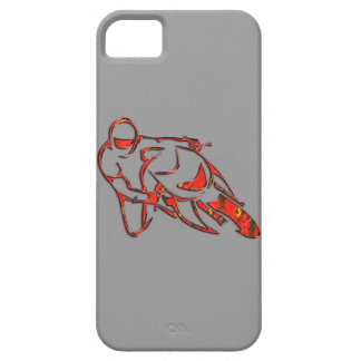 Motorcycle Logo Leaning Into Curve Red Streaks iPhone 5 Covers