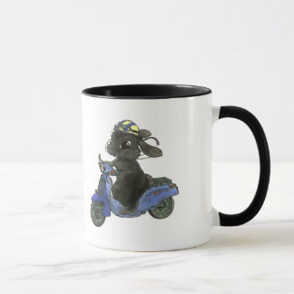 Motorcycle magnetic cup of rabbit