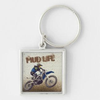 Motorcycle Man Dirt Bike Mud Life Mud Bogging Keychain