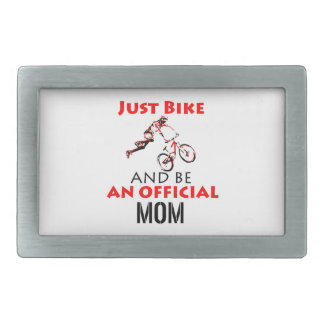 motorcycle mom rectangular belt buckle