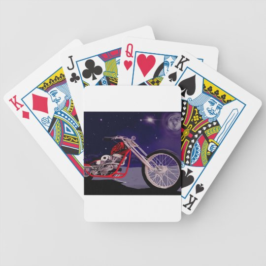 Motorcycle Moonlight Art Bicycle Playing Cards