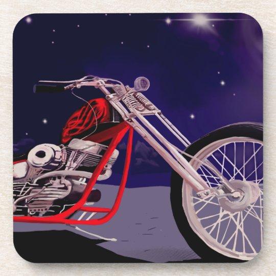 Motorcycle Moonlight Art Coaster
