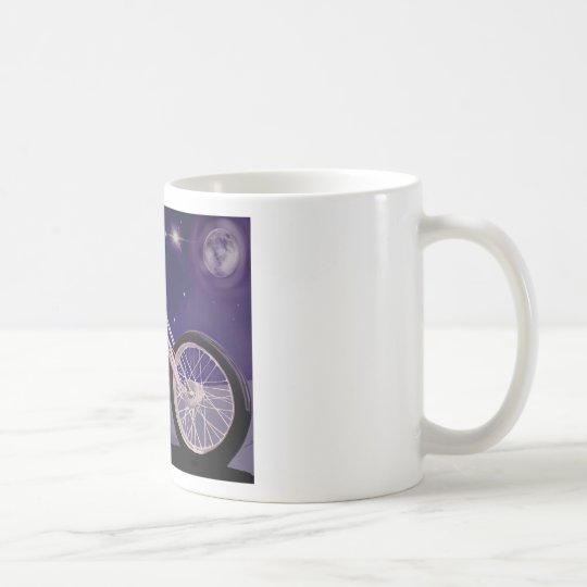 Motorcycle Moonlight Art Coffee Mug