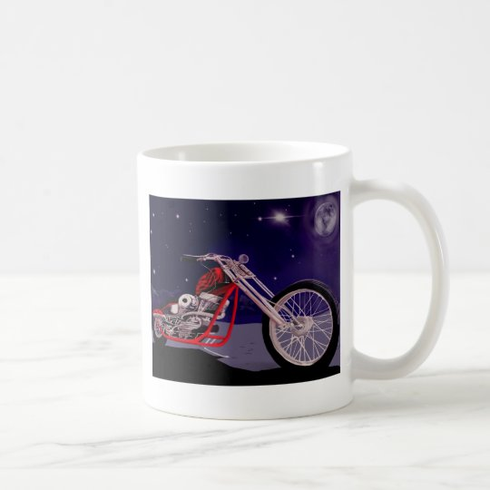 Motorcycle Moonlight Art Coffee Mug