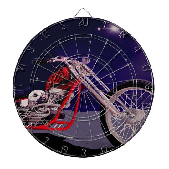 Motorcycle Moonlight Art Dartboard