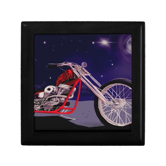 Motorcycle Moonlight Art Gift Box