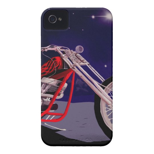 Motorcycle Moonlight Art iPhone 4 Cover
