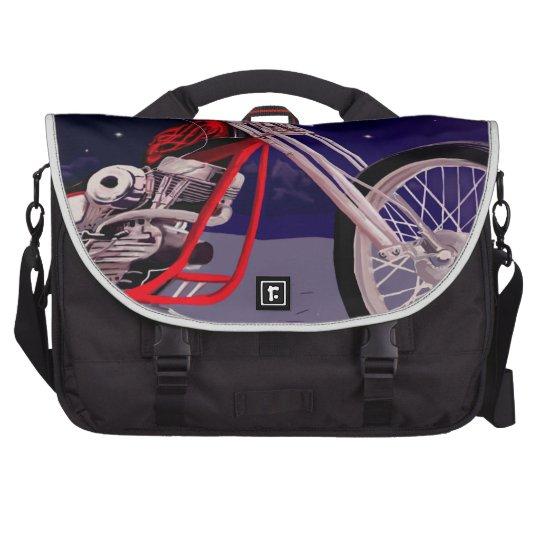 Motorcycle Moonlight Art Laptop Shoulder Bag